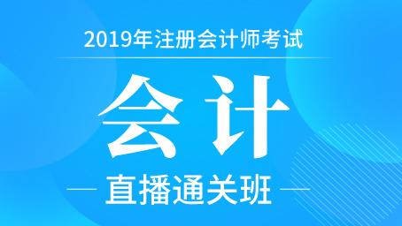 2019年注册会计师全程直播班-会计(55)