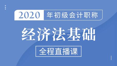 2020年初级经济法串讲强化班第三讲