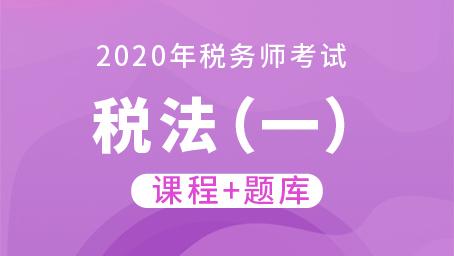 2020年税务师考试税法(一)  (课程+题库)