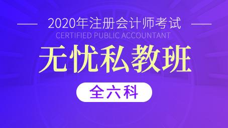 2020年注册会计师无忧私教班(全六科)
