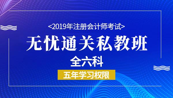 2019年注册会计师无忧通关班(全六科)