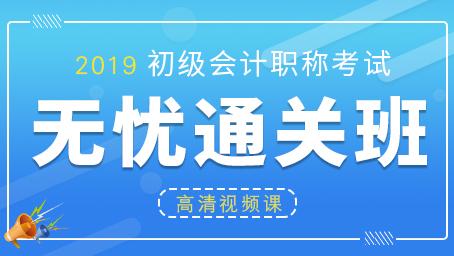 2019年初级会计职称高清视频课(两科)
