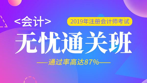 2019年注册会计师视频+题库-会计