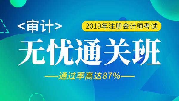 2019年注册会计师视频+题库-审计